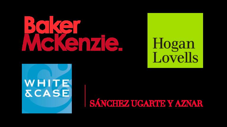 Logos de clientes de industria legal Baker Mckenzie Hogan Lovells White & Case Kuri Breña